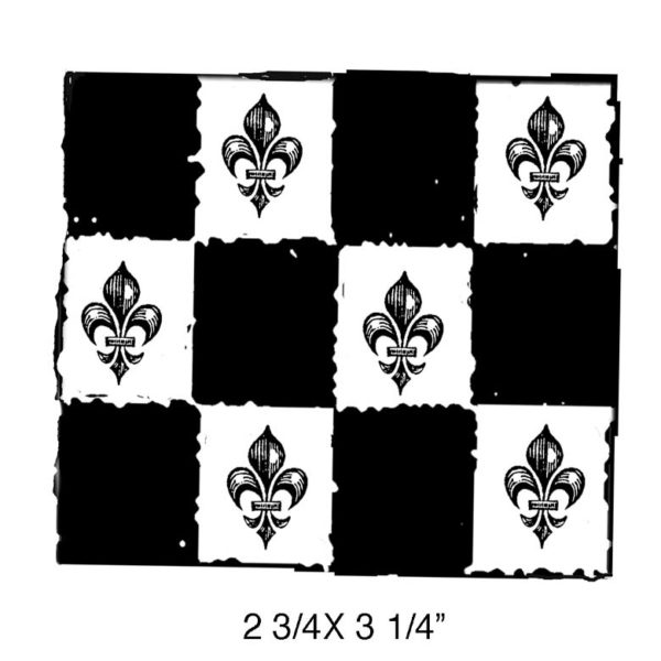 SE228E French Tiles Rubber Stamp