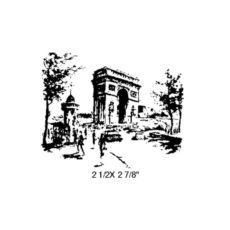 TP221D Paris Postcard Rubber Stamp