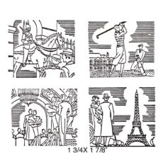 TP429G The Sites Cube Rubber Stamps