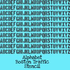 Alphabet Boston Traffic Stencil