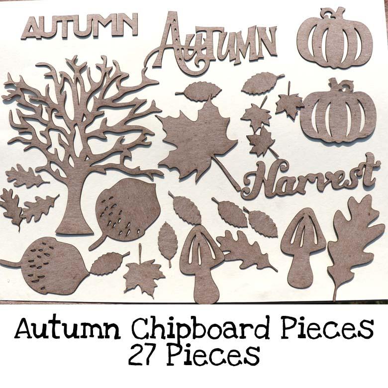Autumn Chipboard Pieces
