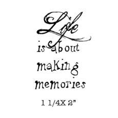 TD0128 Making Memories Rubber Stamp