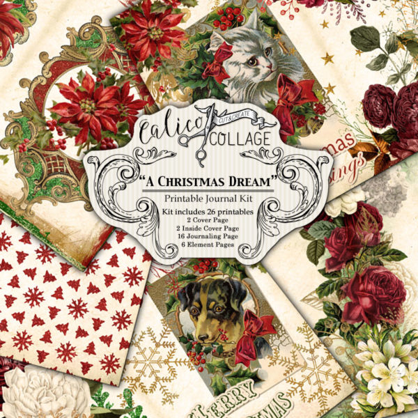 A Christmas Dream Large Digital Journal Kit for Subscribers Only