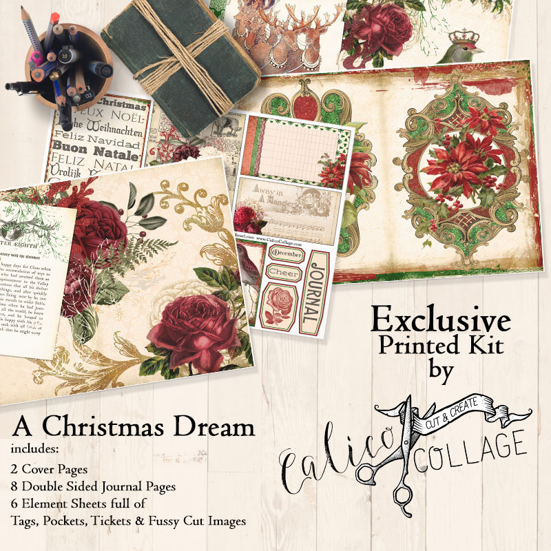 Exclusive A Christmas Dream Printed Journal Kit