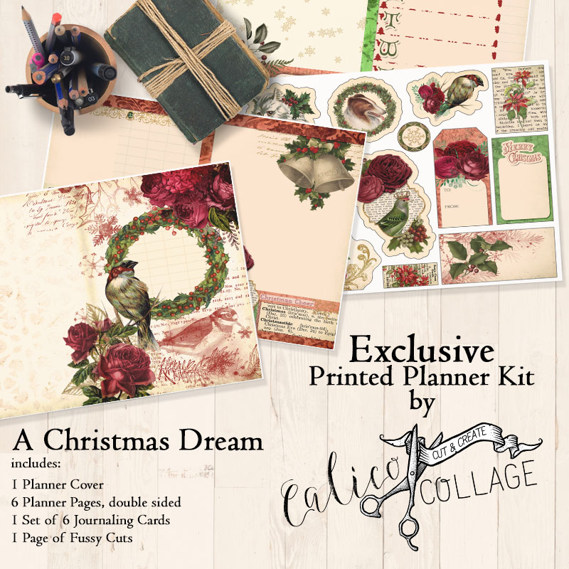 A Christmas Dream Printed Planner Kit