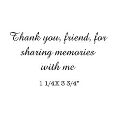 CHF215D Sharing Memories Rubber Stamp