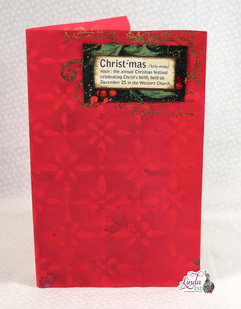 Christmas Sprayed Stenciled Stamped Journal Page Tutorial