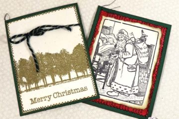 Christmas Stamped Journal Cards Tutorial