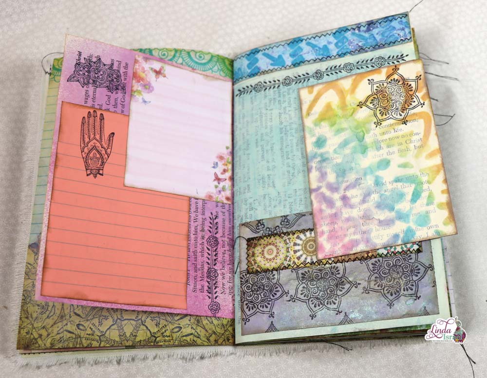 Gel Print Fabric Junk Journal Cover Tutorial