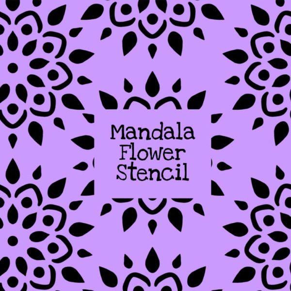 Mandala Flower Stencil