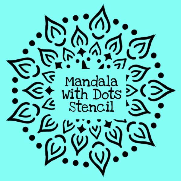 Mandala With Dots Stencil