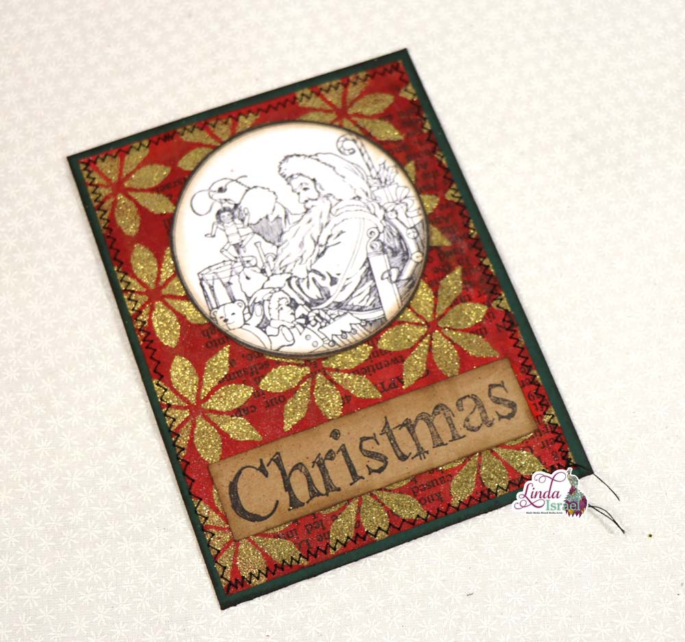 Stamped And Embossed Christmas Journal Cards Tutorial