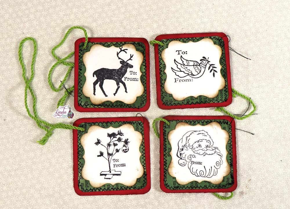 Stamped Christmas Gift Tags Tutorial