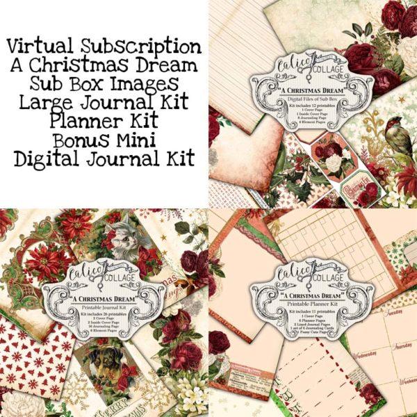Virtual Subscription A Christmas Dream Digital Journal Kit