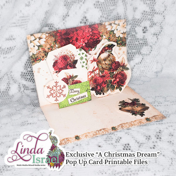 A Christmas Dream Large Digital Pop Up Card Kit