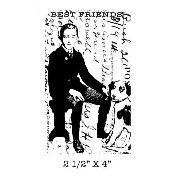 BB116E Best Friend Rubber Stamp