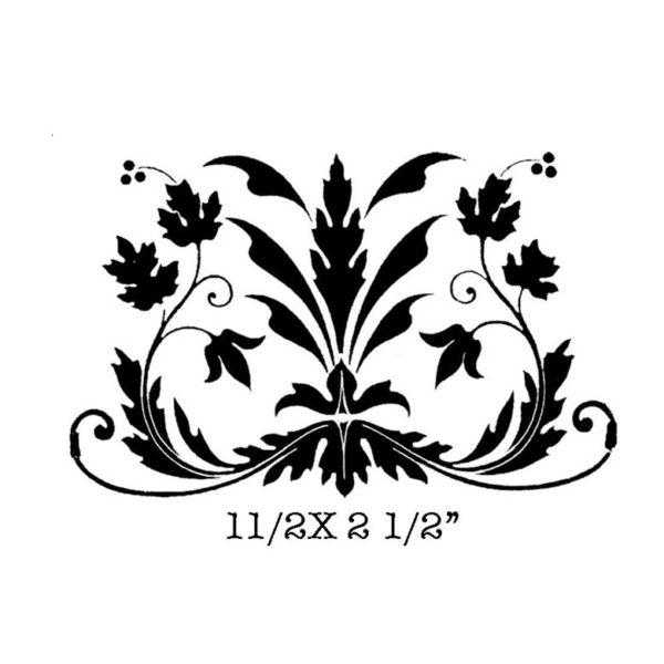 CFF322D Floral Motif Sm Rubber Stamp