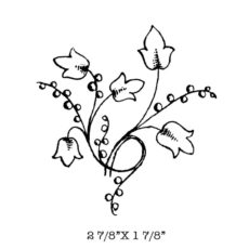 CFF507D Berry Vine Rubber Stamp