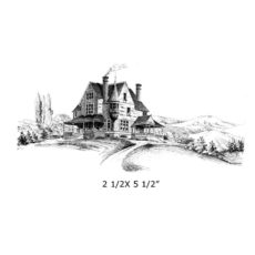 CHC119F Home Sweet Home Rubber Stamp