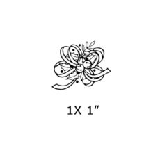 CHO112A Bells & Ribbons Rubber Stamp