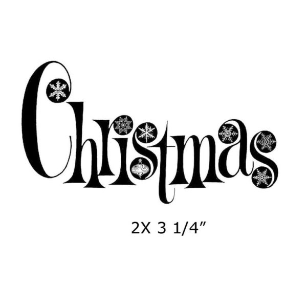 CHO128D Christmas Rubber Stamp