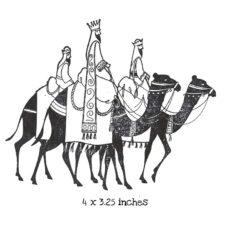 CHO156F Wisemens Journey Rubber Stamp