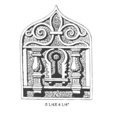 CPA110F Keyhole Shrine Rubber Stamp