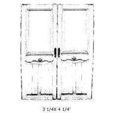 CSE325F Double Door Rubber Stamp