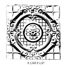 CSE400F Tin Tile Rubber Stamp