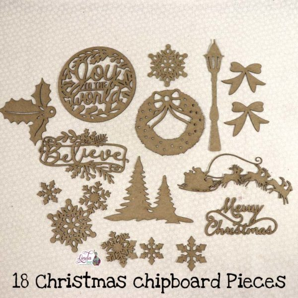 Christmas Chipboard Pieces