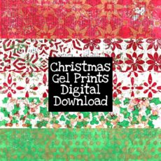Christmas Gel Prints Digital Download