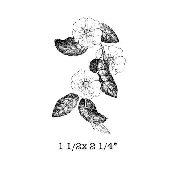 FF415D Flowering Vine Rubber Stamp