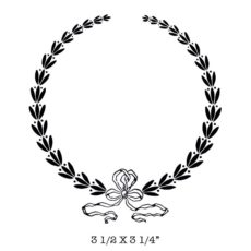 FF707F Laurel Wreath Rubber Stamp
