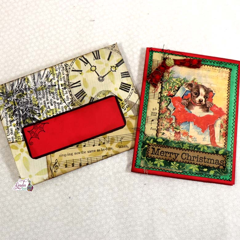 Day 10 of 12 Days of Junk Journal Gift Ideas Card and Envelope