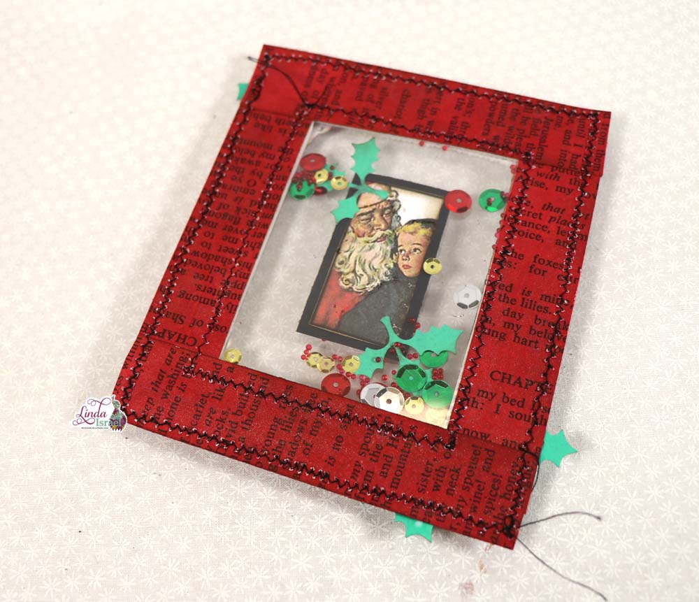 Day 4 of 12 Days of Junk Journal Ideas Shaker Card