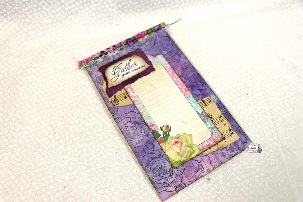 Day 6 of 12 Days of Junk Journal Gift Ideas Notepad