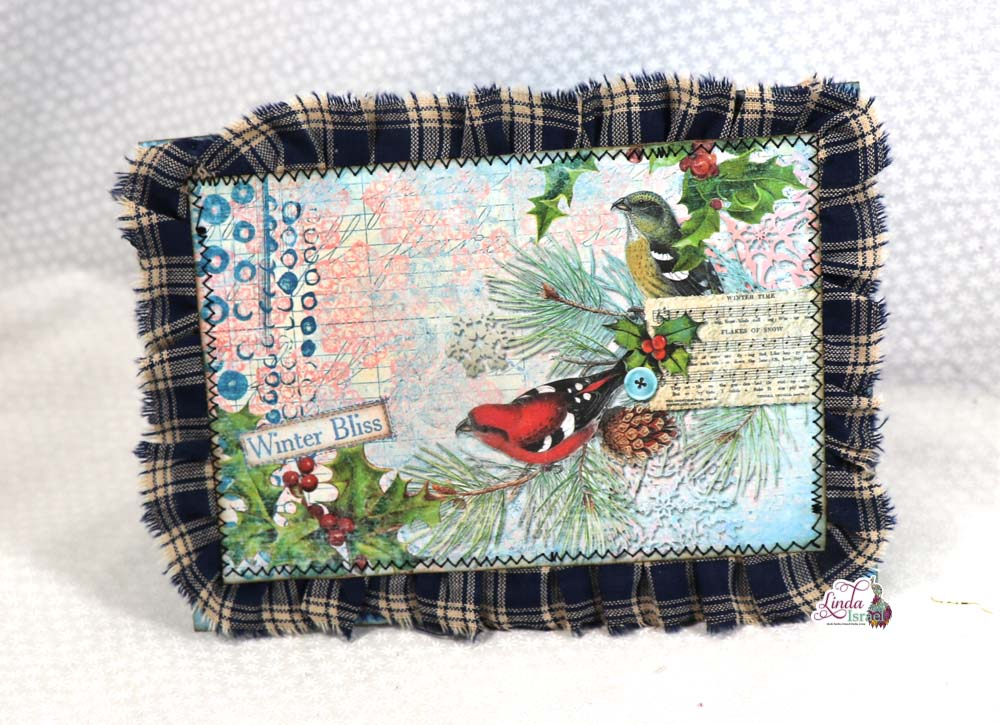 Day 8 of 12 Days of Junk Journal Gift Ideas Winter Popup Card