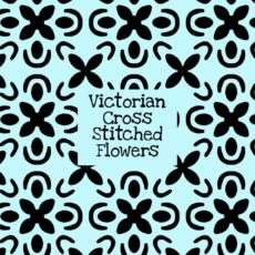 Victorian Cross Stitched Flowers Stencil