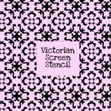 Victorian Screen Stencil