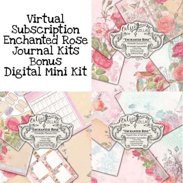 Virtual Subscription Enchanted Rose Journal Kit