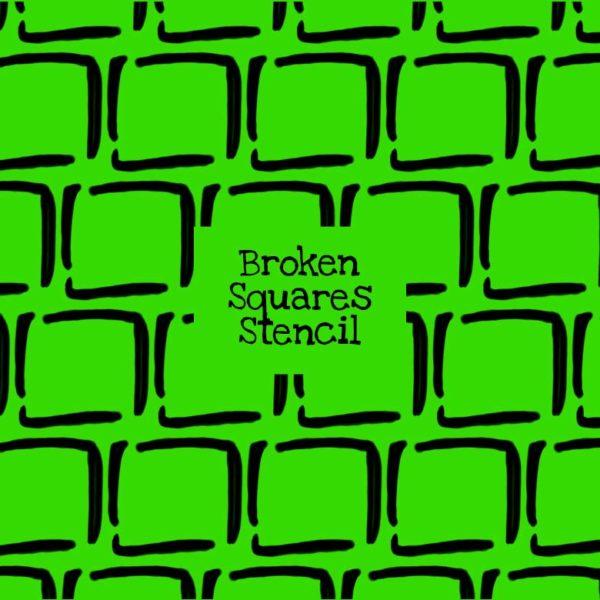 Broken Squares Stencil