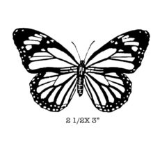 CFF234F Monarch Rubber Stamp