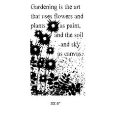 CFF256F Gardening Art Rubber Stamp