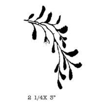 CFF320D Leafy Vine Rubber Stamp