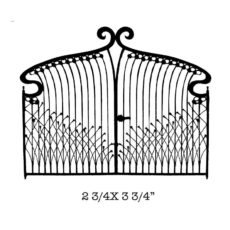 CFF403E Deco Gate Rubber Stamp