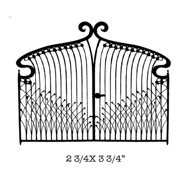 CFF403E Deco Gate Rubber Stamp