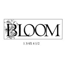 CFF414F Bloom Rubber Stamp