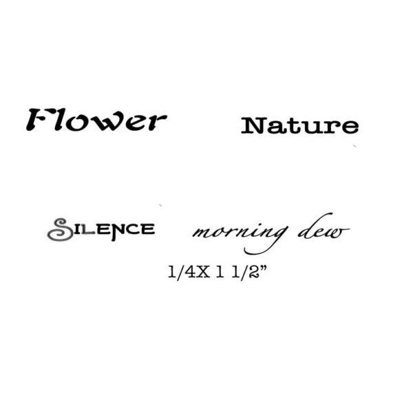 CFF508D Flower QT Rubber Stamps
