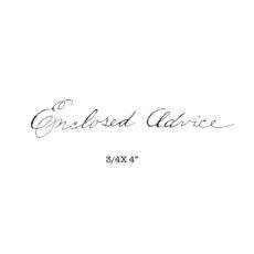 CHC413C Advice Rubber Stamp