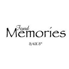 CHC711C Fond Memories Rubber Stamp